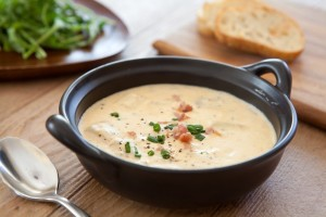 A bowl of soup, friendly for implant healing